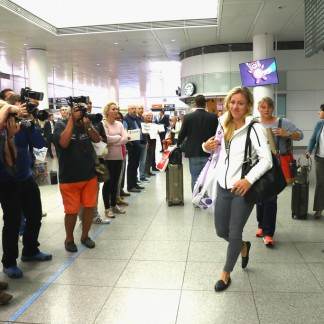 Arrival at the Franz-Josef-Strauss-airport in Munich // Getty Images