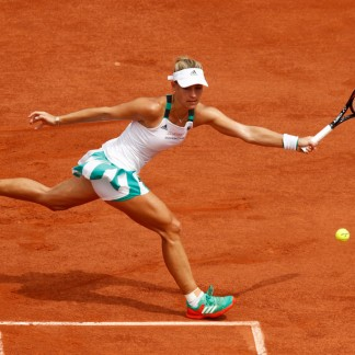 1st Rd match against Ekaterina Makarova / Adam Pretty/Getty Images Europe