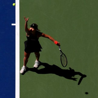 Second round match against Johanna Larsson of Sweden on Day Four // Getty Images