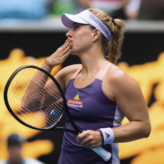 Angelique Kerber of Germany after winning her second round match at the 2020 Australian Open Grand Slam tennis tournament